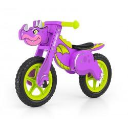 Dino viola bici bambini in legno senza pedali