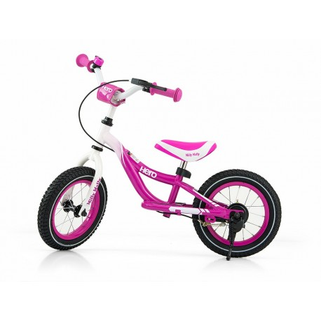 HERO bici senza pedali con freno - rosa