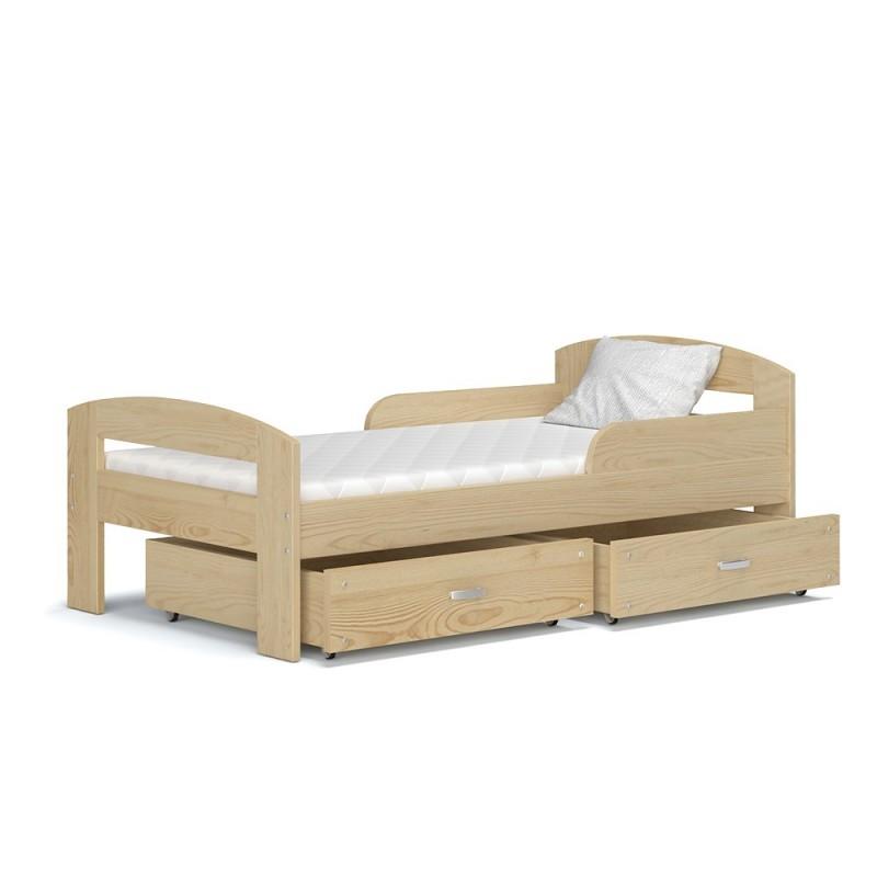 Lettino singolo bambino in legno di pino massello greg con - Copriletto singolo bambino ...