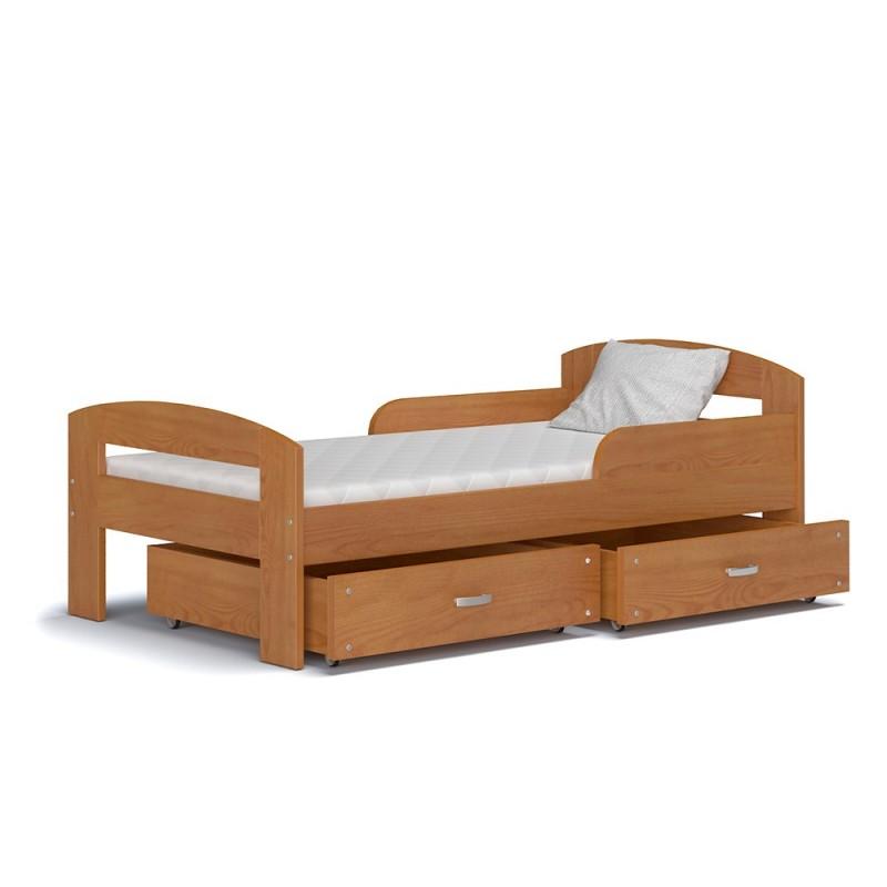 Letto singolo in legno di pino massello greg con cassetto - Letto bimbo cars ...