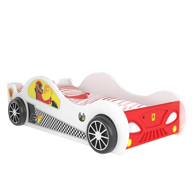 Letto macchina con luci 160x80 cm letti a forma di auto - Letto bimbo macchina ...