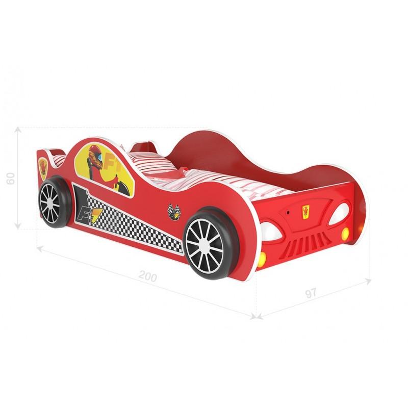 Letto macchina con luci 180x90 cm letti a forma di auto - Letto bimbo macchina ...