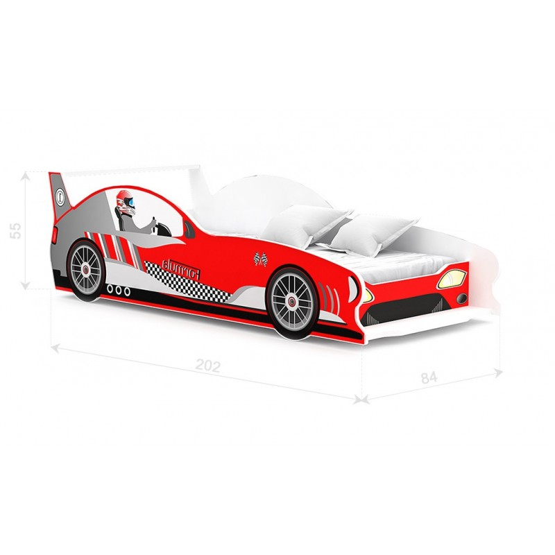 Letto macchina da corsa formula gt 180x80 cm letti a forma - Letto bimbo auto ...