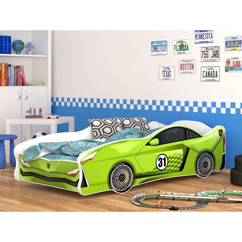 Letto macchina cars bambina bambino 160x80 letti a forma di auto - Letto macchina bimbo ...