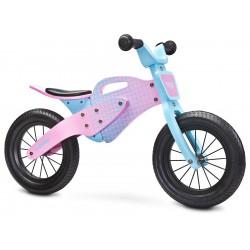 Enduro rosa bici bambini in legno senza pedali