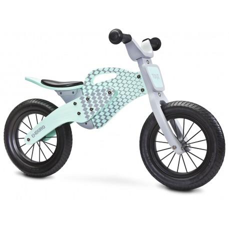 Enduro verde bici bambini in legno senza pedali