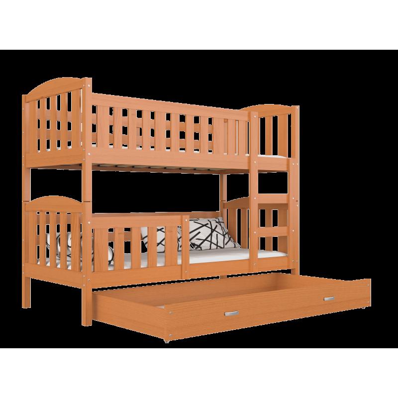 Letto a castello in legno massello Jacob 2 con cassetto ...