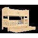 Letto a castello in legno massello Jacob 2 160x80 cm