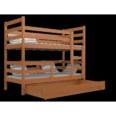 Letto a castello in legno massello Jack 180x80 cm