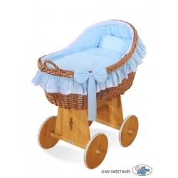 Culla neonato vimini Carine - Blu