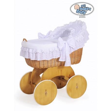 Culla neonato vimini Lily - Bianco