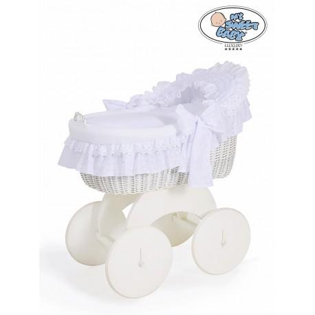 Culla neonato vimini Charlotte - Bianco