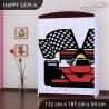 Armadio Happy Collezione con cassetti mensole e barra