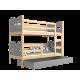 Letto a castello in legno massello 200x90 cm