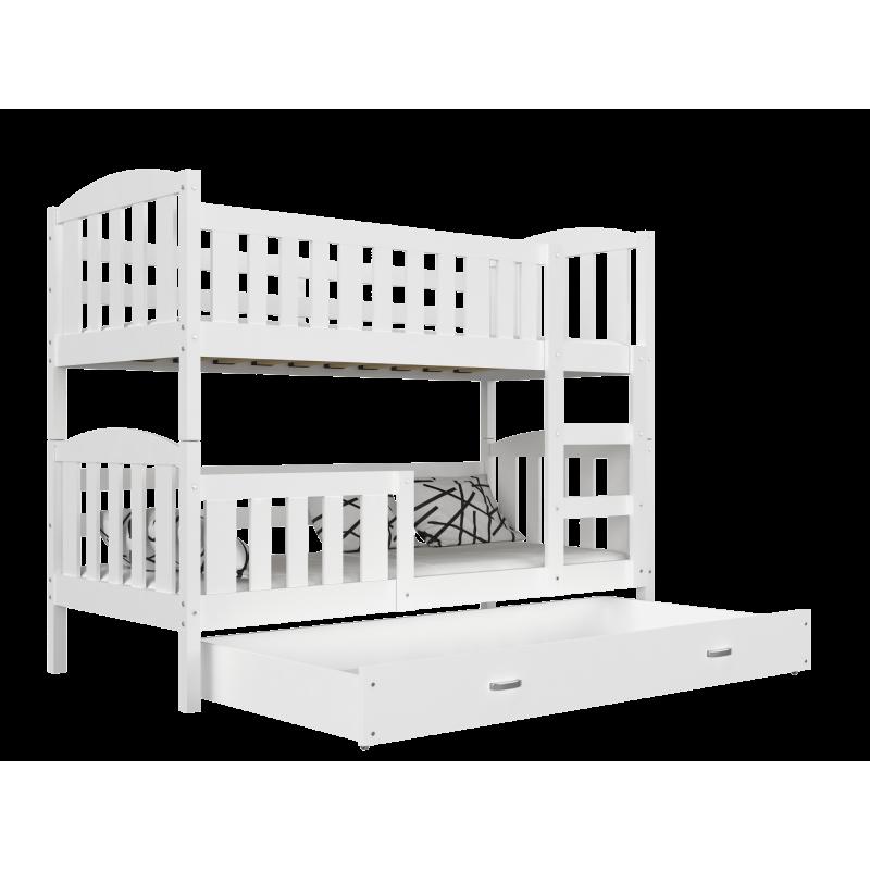 Letto a castello in legno massello jacob 2 con cassetto 190x80 cm l - Letto a castello in legno massello ...