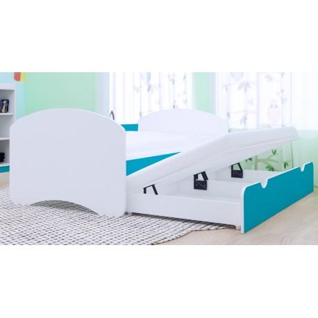 Lettino estraibile Happy Collezione 2 materassi 160x80 cm