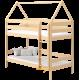 Letto a castello in legno massello Casetta 160x80 cm