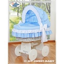 Culla neonato vimini Bellamy - Blu