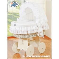 Culla neonato vimini Bellamy - Bianco
