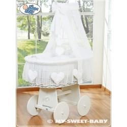 Culla vimini neonato Cuore - Bianco