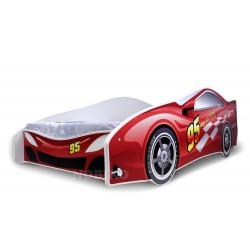 Letto macchina rossa con materasso 180x80 cm