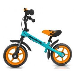 DRAGON bici senza pedali con freno - blu-arancione