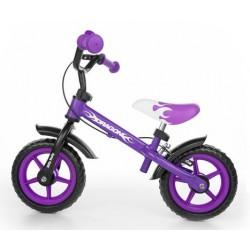 DRAGON - bici senza pedali con freno - viola