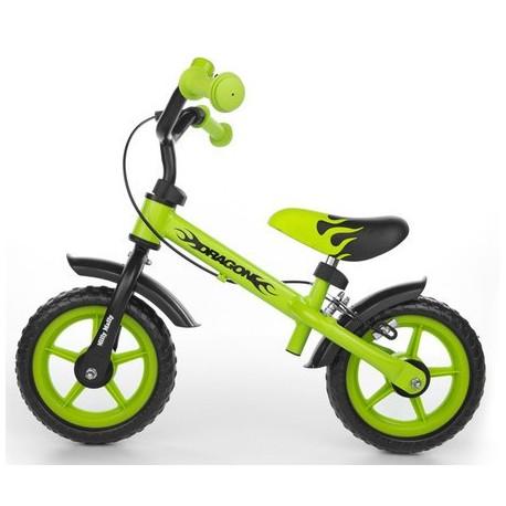 DRAGON - bici senza pedali con freno - verde