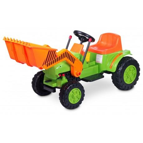 Auto elettrica Bulldozer verde