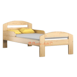 Letto singolo in legno di pino massello Tim2 180x80 cm