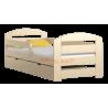 Letto in legno di pino Kam3 con cassetto 180x80 cm