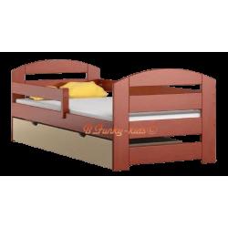 Letto singolo in legno di pino massello Kam3 con cassetto 180x80 cm