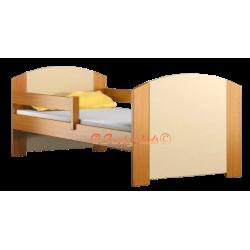 Lettino singolo in legno di pino massello Kam4 160x70 cm