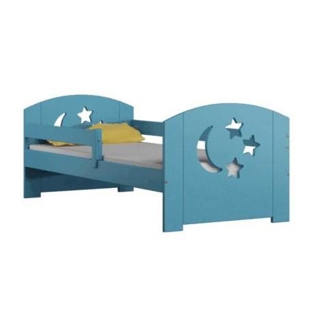 Letto singolo in legno di pino massello Molly con cassetto 180x80 cm