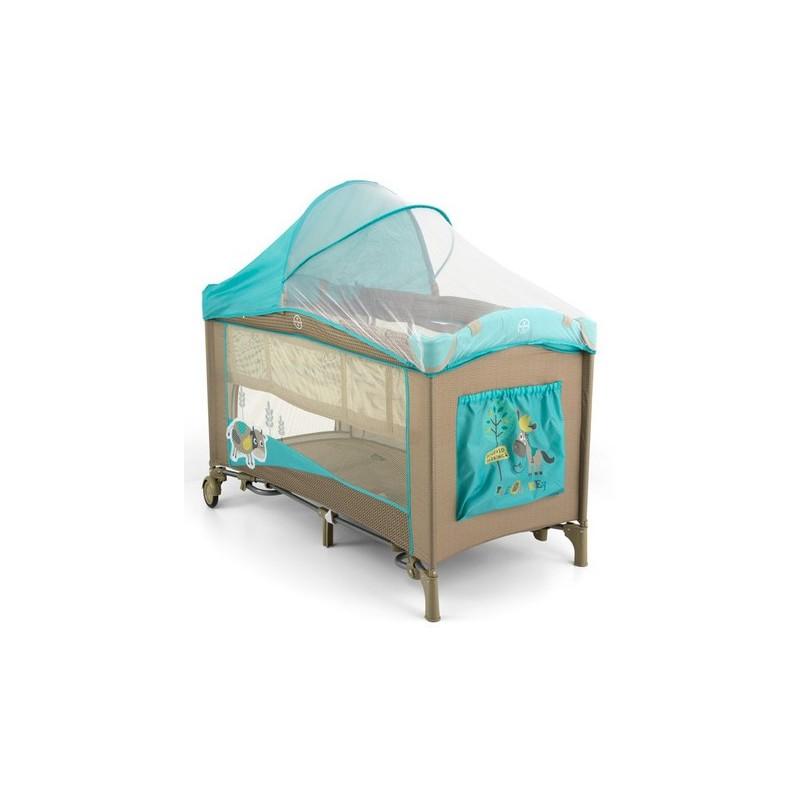 Lettino da campeggio con materassino fasciatoio Mirage Vacca Blu Le...