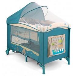 Lettino da campeggio con materassino fasciatoio Mirage Spiaggia Blu