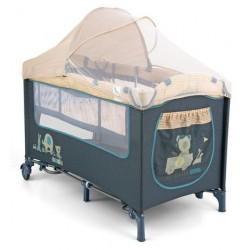 Lettino da campeggio con materassino fasciatoio Mirage Giocattoli Blu