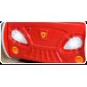 Letto macchina da corsa con luci e materasso