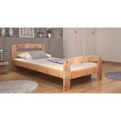 Letto singolo in legno di pino massello Diego 200x90 cm