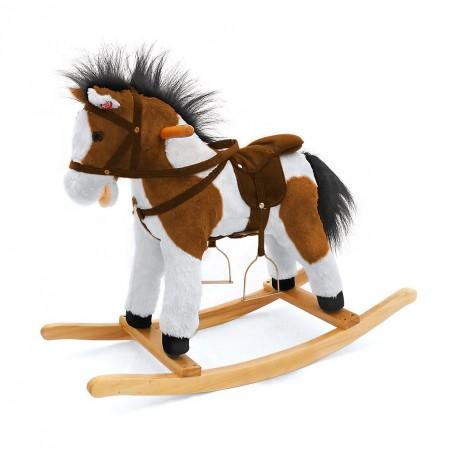 Cavallo a dondolo Pony marrone scuro