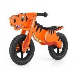 Dino arancione bici bambini in legno senza pedali