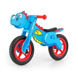 Dino blu bici bambini in legno senza pedali