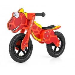 Dino rosso bici bambini in legno senza pedali
