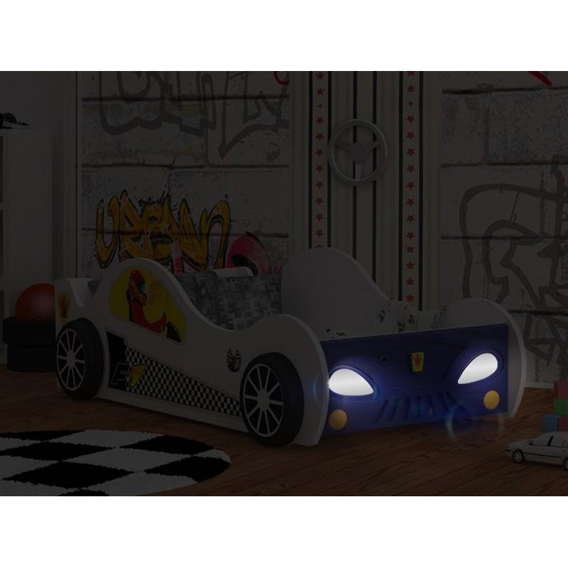 Letto macchina con luci 180x90 cm letti a forma di auto - Letto macchina bimbo ...