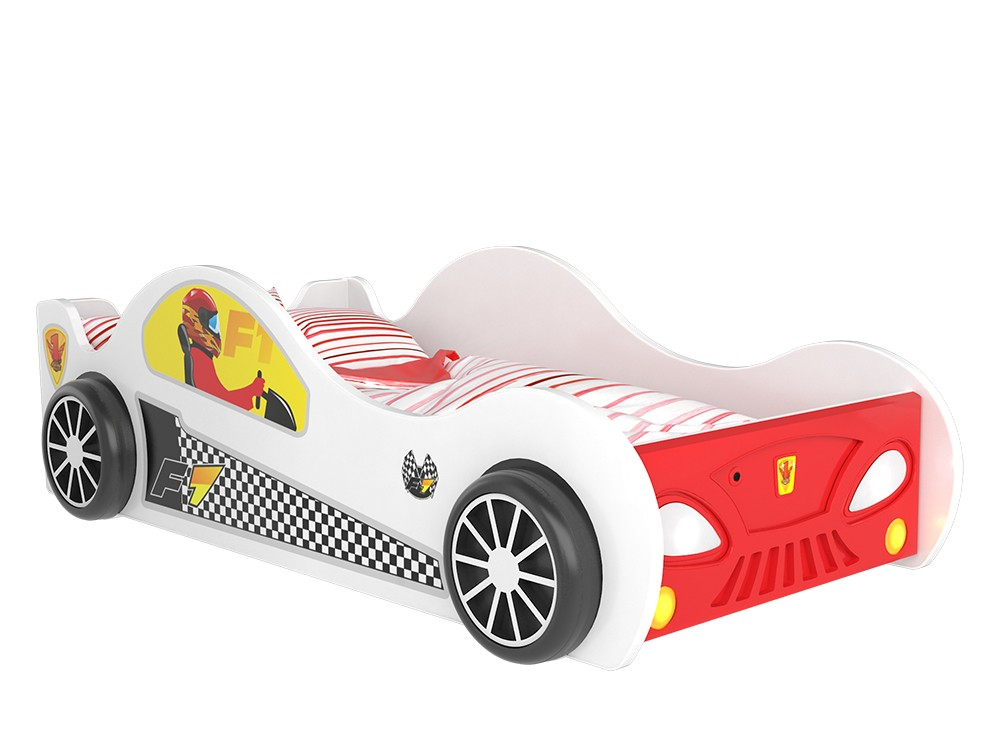 Letto A Forma Di Auto Da Corsa : Lettini per bambini a forma di macchina il sogno di ogni bambino