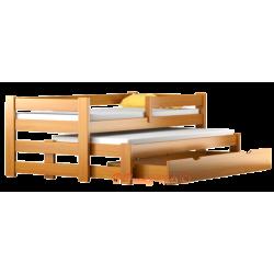 Letto scorrevole in legno massello con cassetto e materasso Pablo 190x80 cm