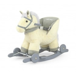 Cavallo a dondolo Polly beige