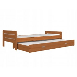 Letto scorrevole estraibile in legno massello Ben 200x90 cm